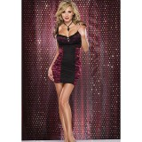 Coquette Satin and Lycra Dress - Large