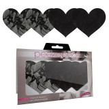 Peekaboo Satin & Lace Hearts Pasties
